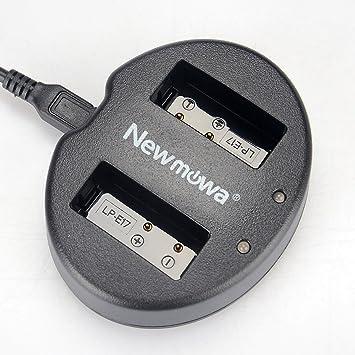 Newmowa USB Cargador Doble para Canon LP-E17 y Canon EOS M3 M6 250D 750D 760D Rebel SL3 T6i T6s 8000D Kiss X8i