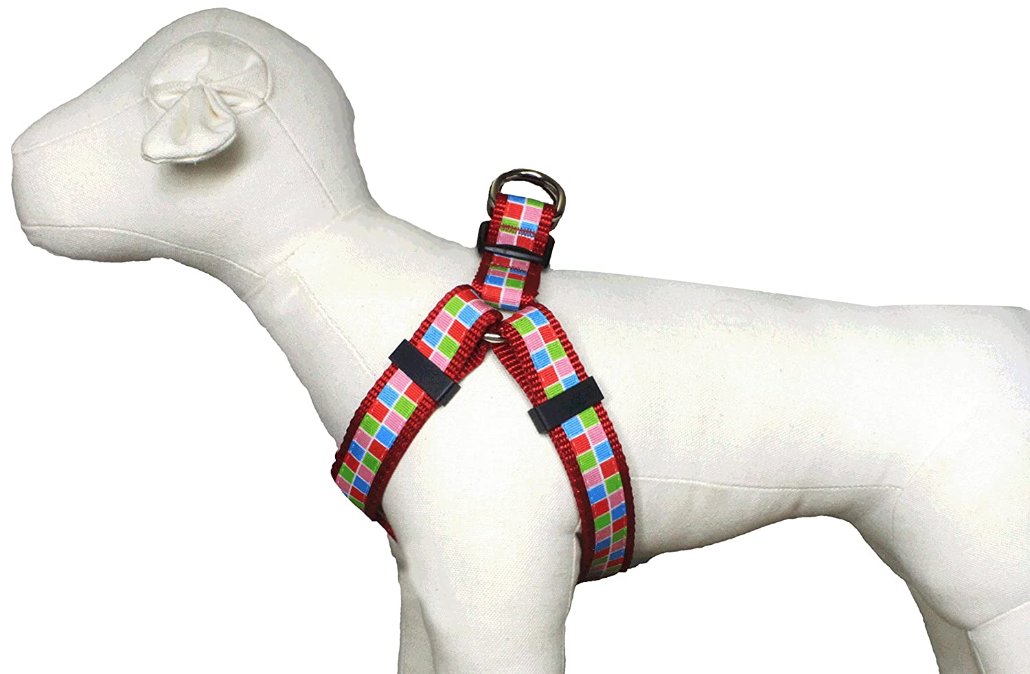 Large Harness Paw Paws USA Pupcake Block Dog Harness, Large, Multicolord