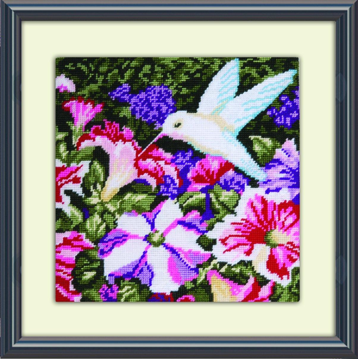 10 by 10-Inch Tobin DW2520 Needlepoint Kit Hummingbirds