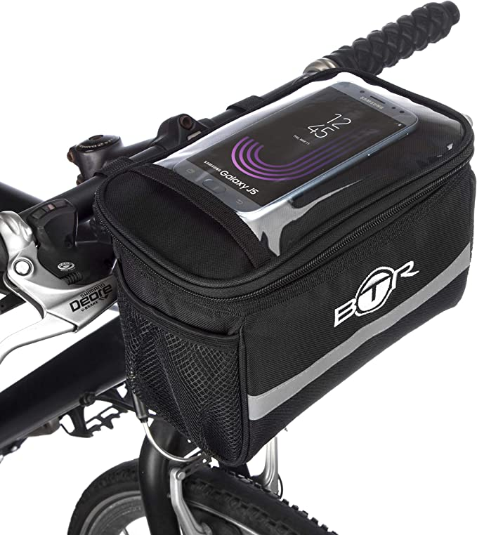 BTR - Alforja Bolsa de Almacenamiento para Manillar de Bicicleta ...