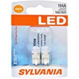 SYLVANIA 194 T10 W5W Amber LED Bulb, (Contains 2 Bulbs)