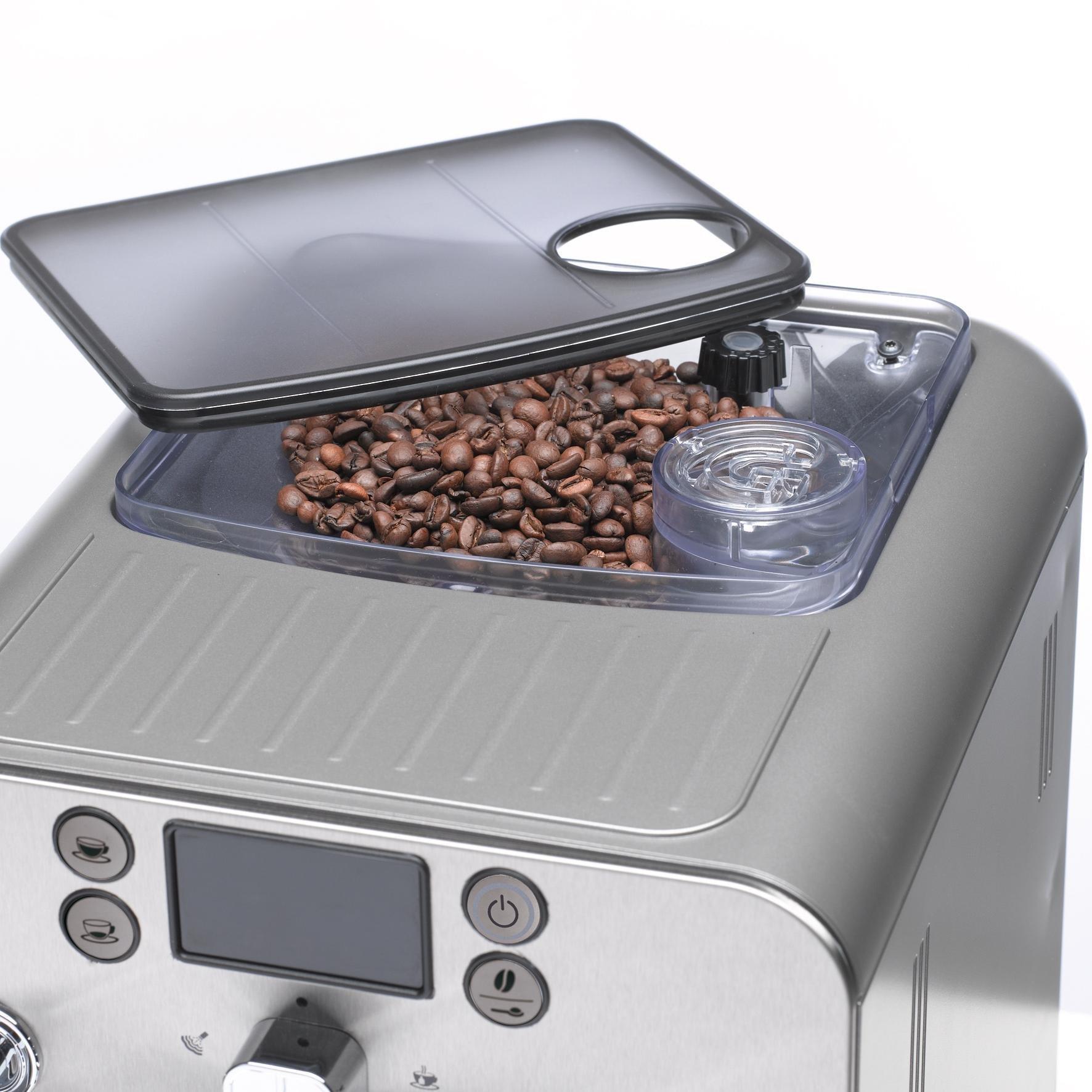 Gaggia Brera Super Automatic Espresso Machine in Silver. Pannarello Wand Frothing for Latte and Cappuccino Drinks. Espresso from Pre-Ground or Whole Bean Coffee. by Gaggia (Image #2)