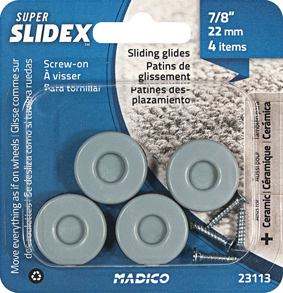 Richelieu Hardware - 23113 - Pack of 4 Units - Super SLIDEX Gray Round Ultra-Sliding Glides - - Amazon.com