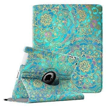 Fintie Funda Giratoria para iPad 4/3 / 2 - Rotación de 360 Grados Carcasa con Función de Soporte y Auto-Reposo/Activación, Shades of Blue: Amazon.es: ...