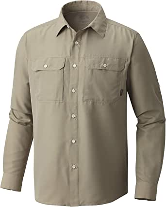 Mountain Hardwear Men's Canyon Solid Long Sleeve Shirt for Hiking, Climbing, Camping, and Casual Everyday