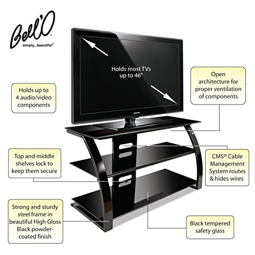 Bell O PVS4204HG Audio Video Furniture for 27 to 46-Inch TV