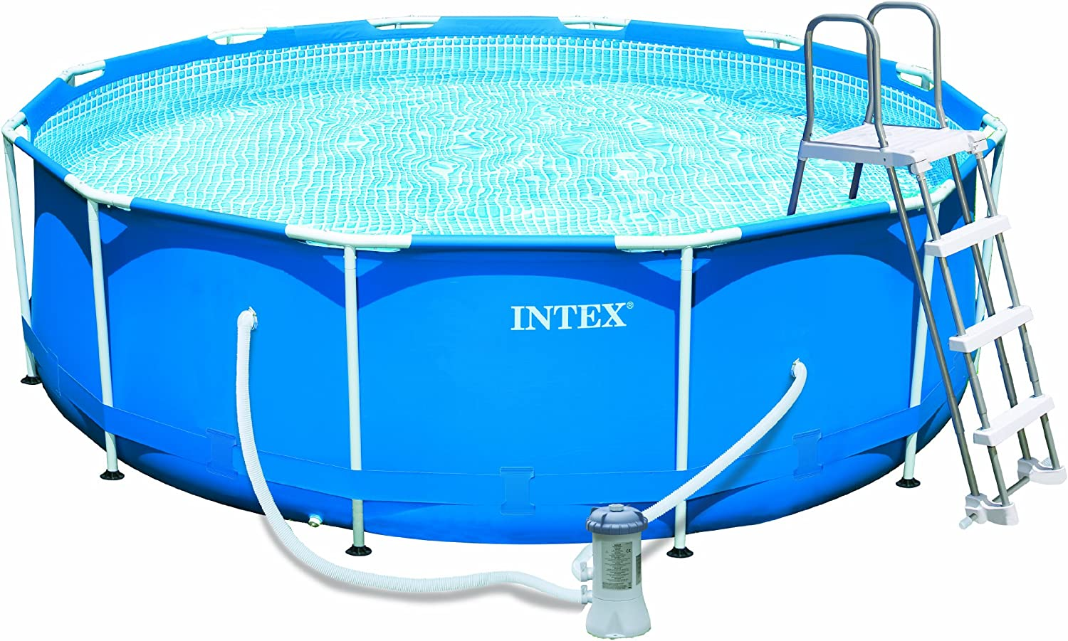 Intex – 54424 FR – Piscina – Kit Piscina Metal Frame 3, 66 x 0, 91 m – Tubular Metal Redonda – Depurador de Cartucho 2 M3/H: Amazon.es: Jardín