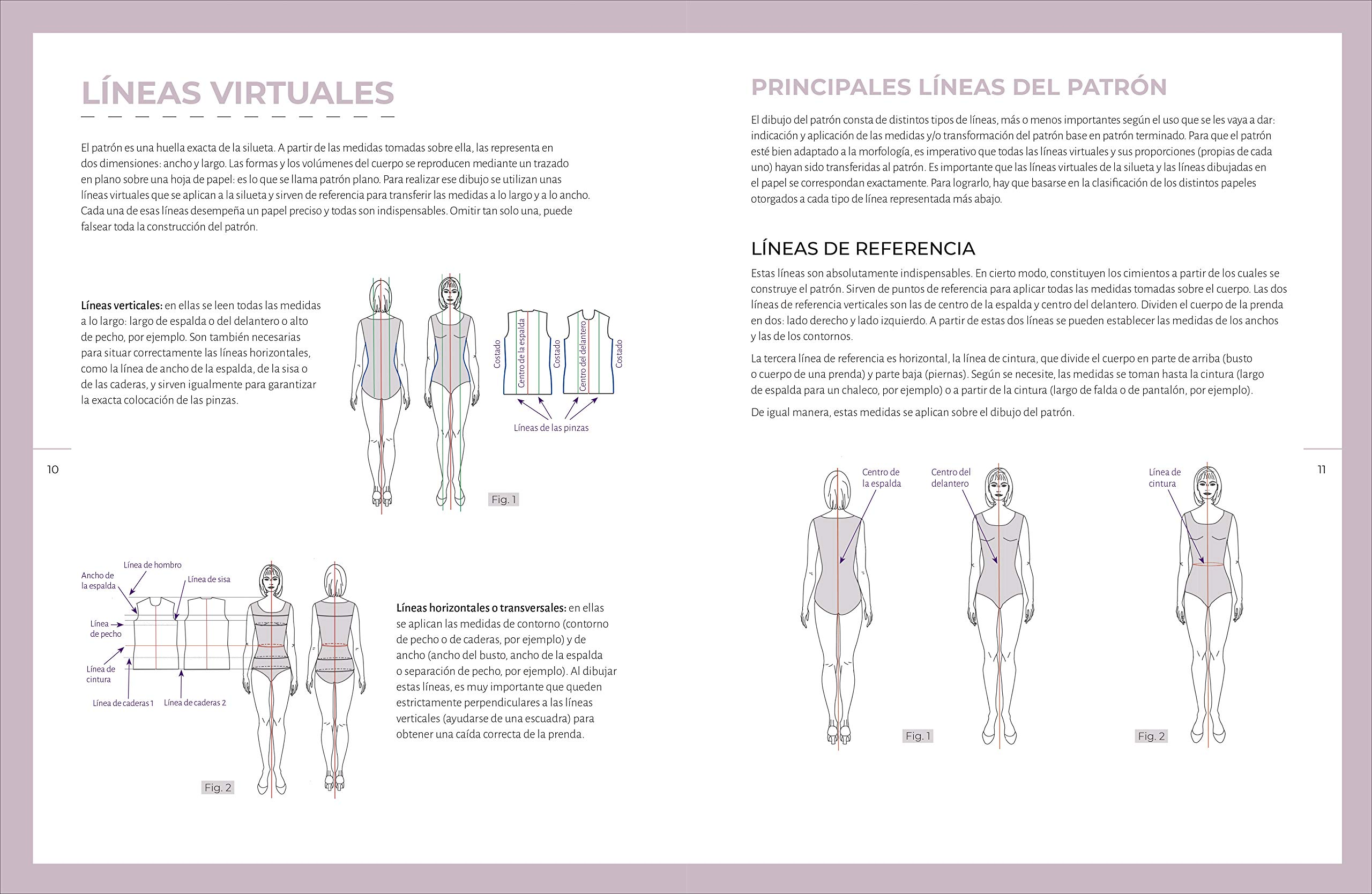 Patrón Base A Medida: Cuerpo de la prenda, manga, falda y pantalón ...