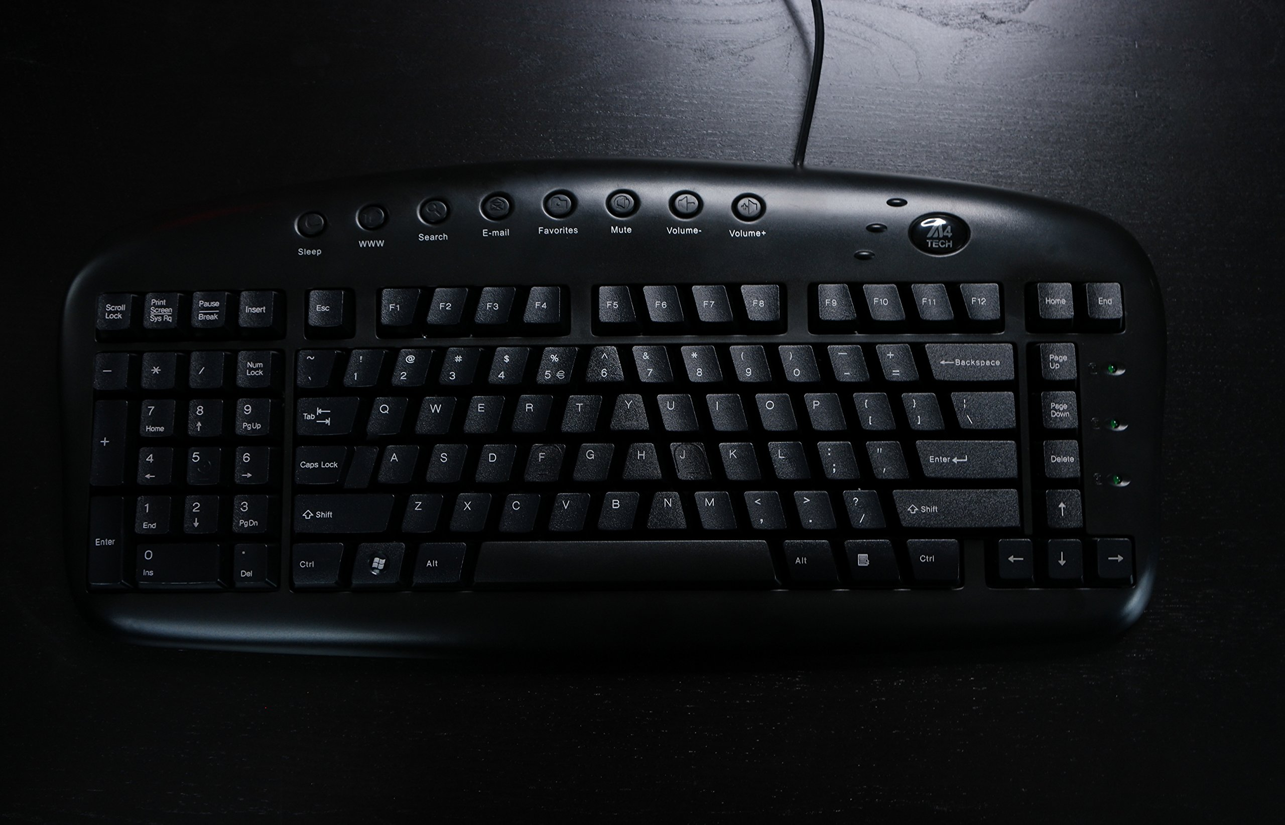 Ergonomic Left Handed Keyboard for Business/Accounting - 8 Multimedia Hotkeys - Eliminates RSI and Carpal Tunnel - Patented Natural_A Keycaps to Reduce Back and Shoulder Strain to Improve Posture
