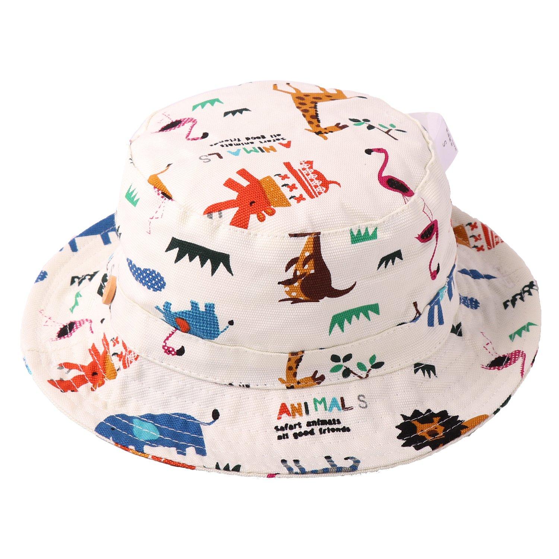 23d521b9525b Tyidalin Chapeau de Soleil Bébé Garçon Bonnet Bob de Plage Anti UV Pliable  été en Coton