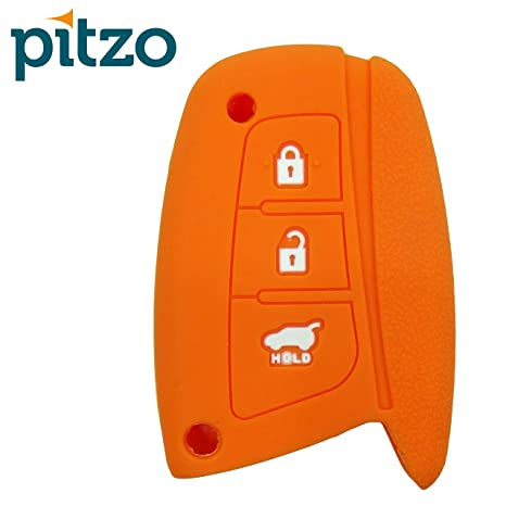 PITZO Car Silicone Key Cover for 3 Button Remote Smart Key