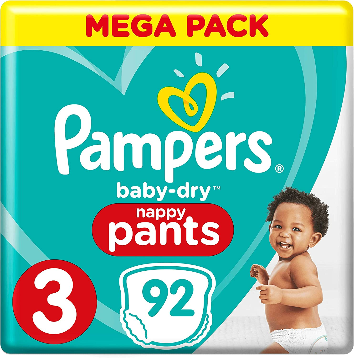26 Couches-Culottes 6-11 kg Pampers Baby-Dry Pants Taille 3