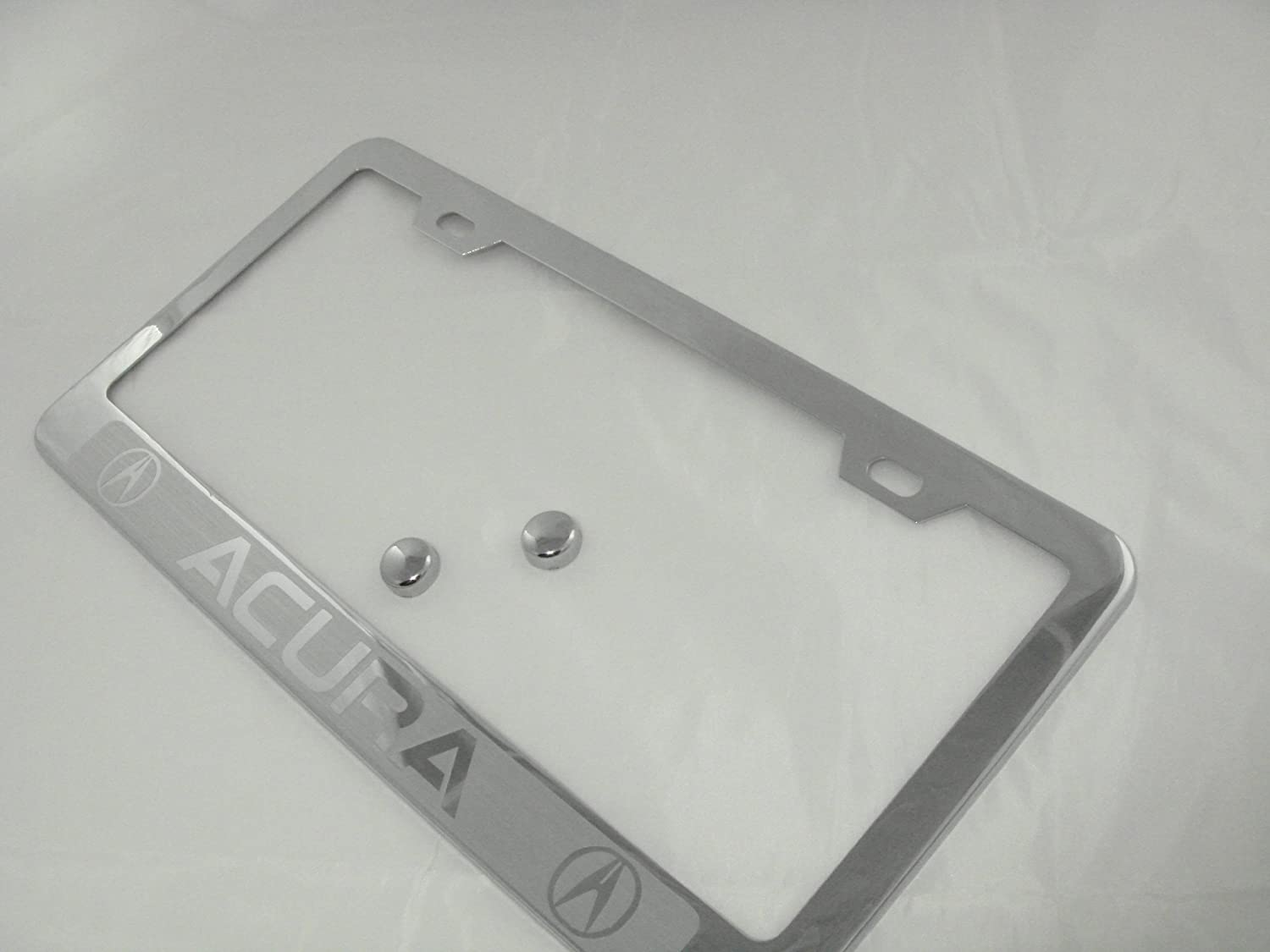 Acura Chrome License Plate Frame with Caps