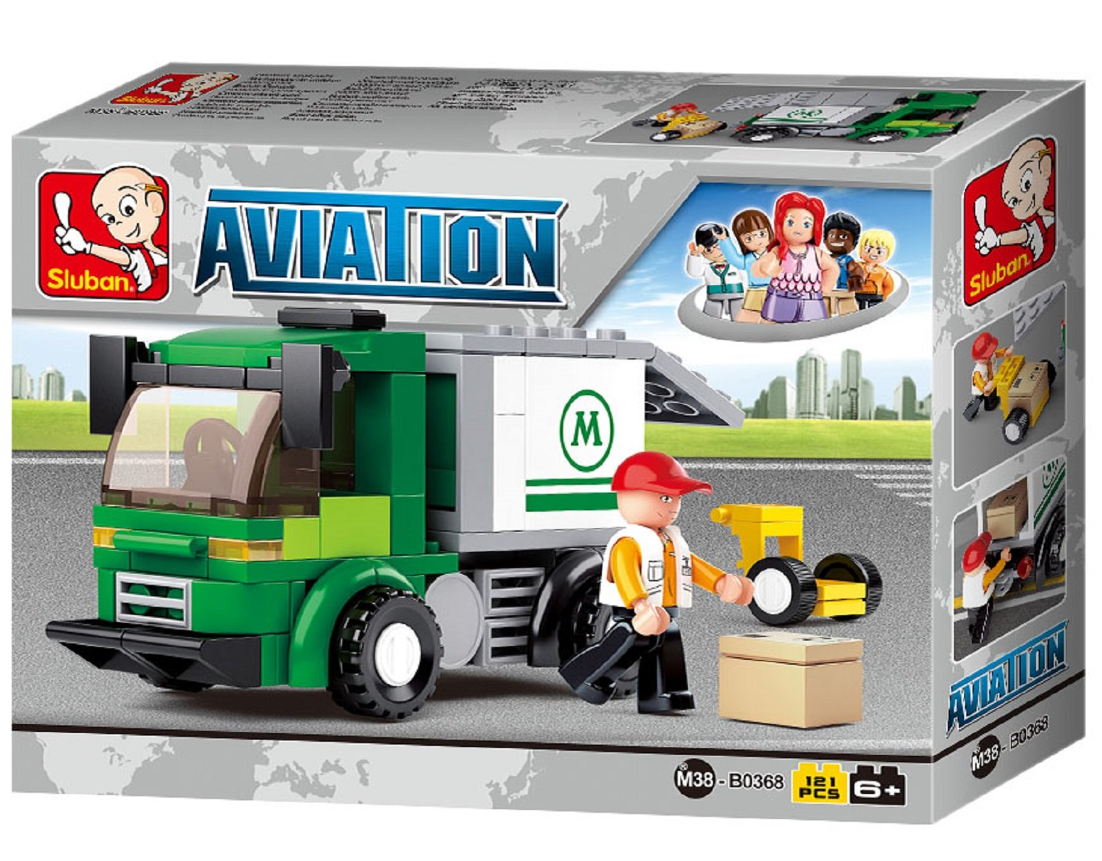 Sluban SlubanM38-B0368 Airport Security Van Building Bricks Set
