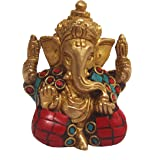 Aesthetic Decors Ganesh Sitting with Stone Work