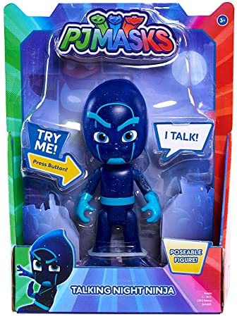 Pj Masks Night Ninja Talking Poseable Figure 6""