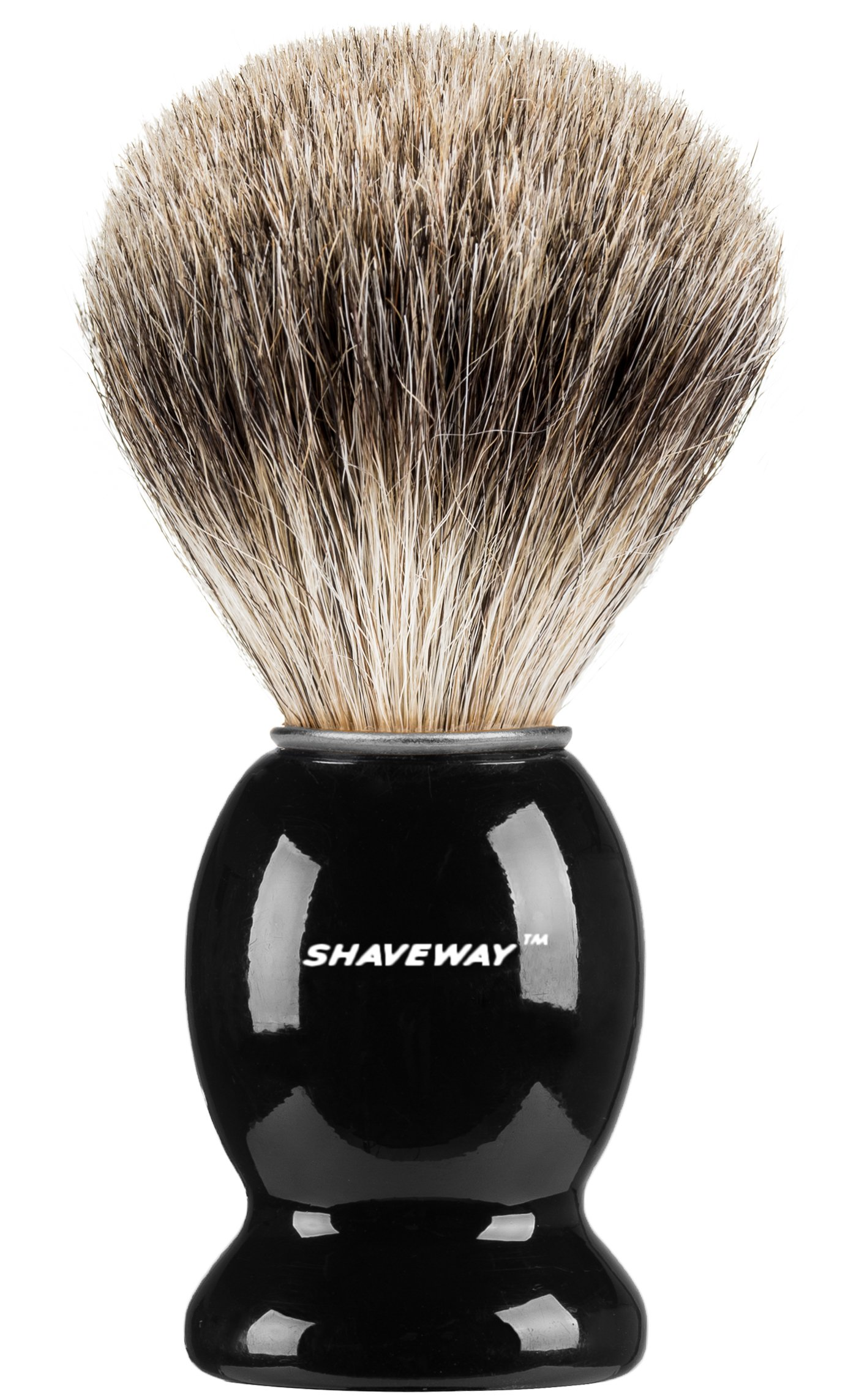Shaveway 100% Pure Badger Shaving Brush-Engineered to deliver the Best Shave of Your Life!!! No Matter what method you use, Safety Razor, Double Edge Razor, Staight Razor or Shaving Razor,. …