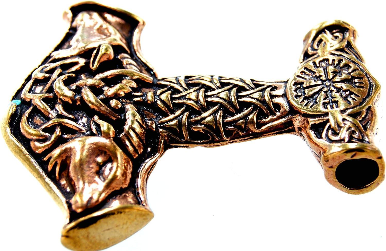 Grand pendentif Marteau de Thor en bronze N /° 133