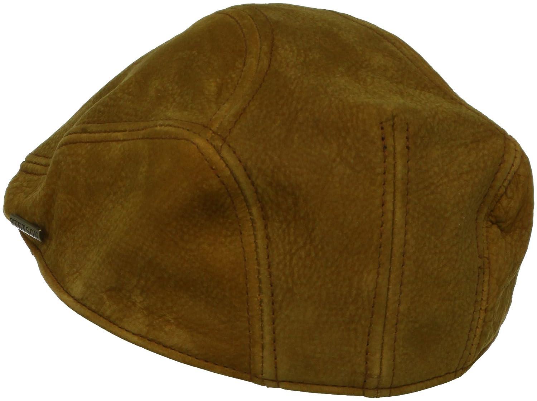 5de28c30c66a68 Stetson Men's Distressed Leather Ivy Hat at Amazon Men's Clothing store:  Newsboy Caps