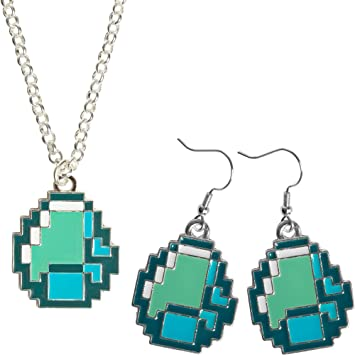 Amazon jinx minecraft diamond ore pendant jewelry pack jinx minecraft diamond ore pendant jewelry pack necklace and earring set aloadofball Gallery