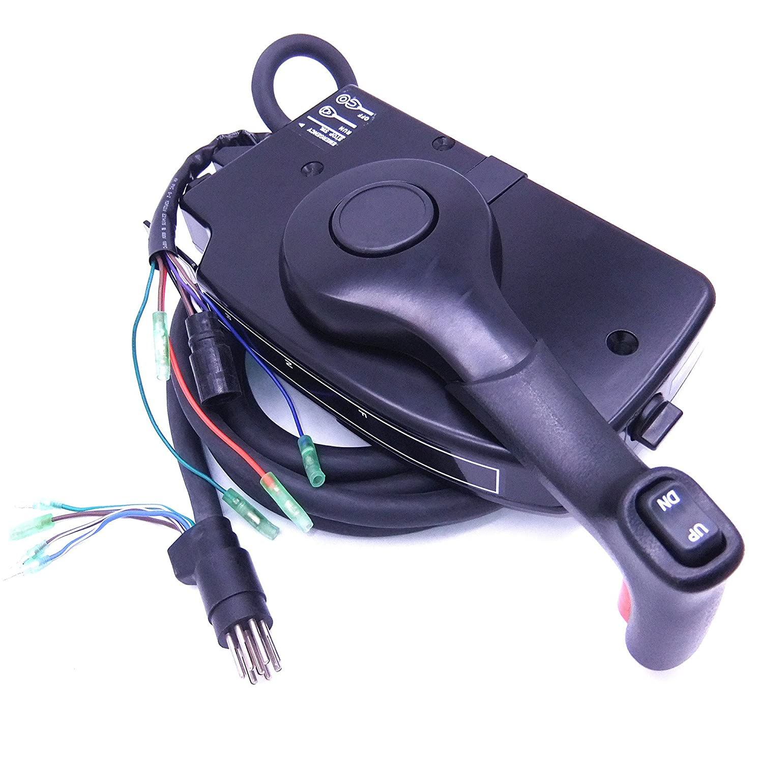 881170a15 Boat Motor Side Mount Remote Control Box With 70 Hp Mercury Outboard Wiring Diagram 8 Pin For Engine Pt Right Hand Sports Outdoors