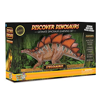 amazon com discover with dr cool stegosaurus action figure