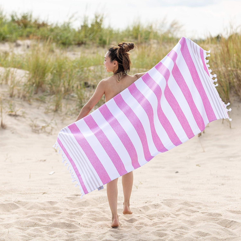SUPERIOR Coastal Resort Oversized Beach Towel, 35x68, Cerise