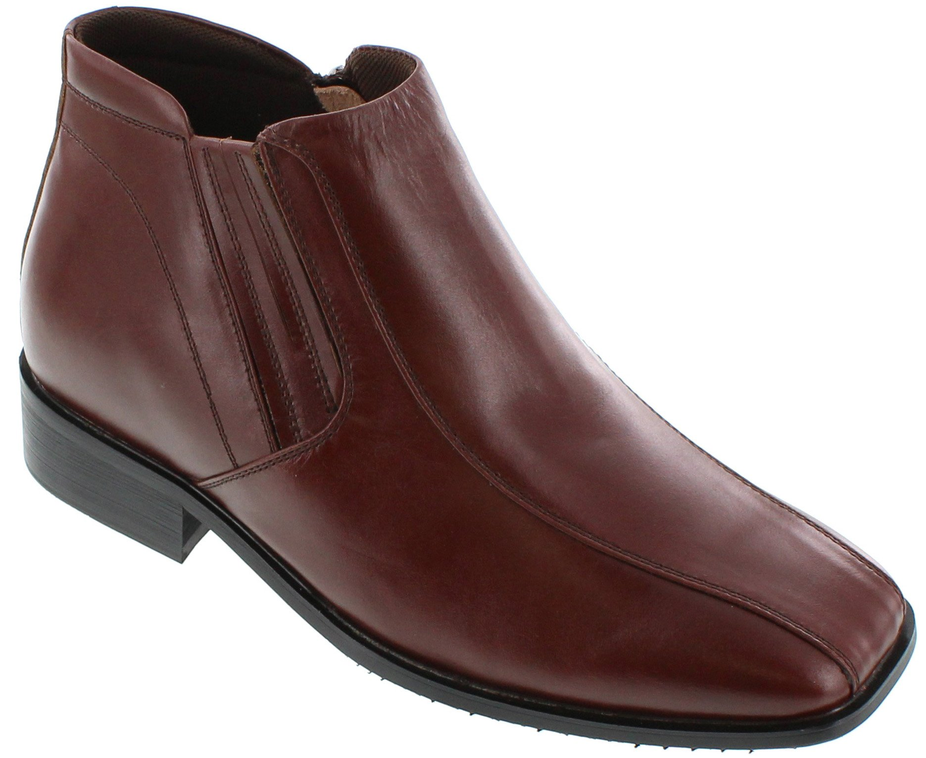 CALDEN - K99805-1 - 3.6 Inches Taller - Size 8 D US - Height Increasing Elevator Shoes (Brown Dress Boots)