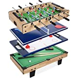 Best Choice Products 4-in-1 Multi Game Table, Childrens Combination Arcade Set for Home, Play Room, Rec Room w/Pool Billiards