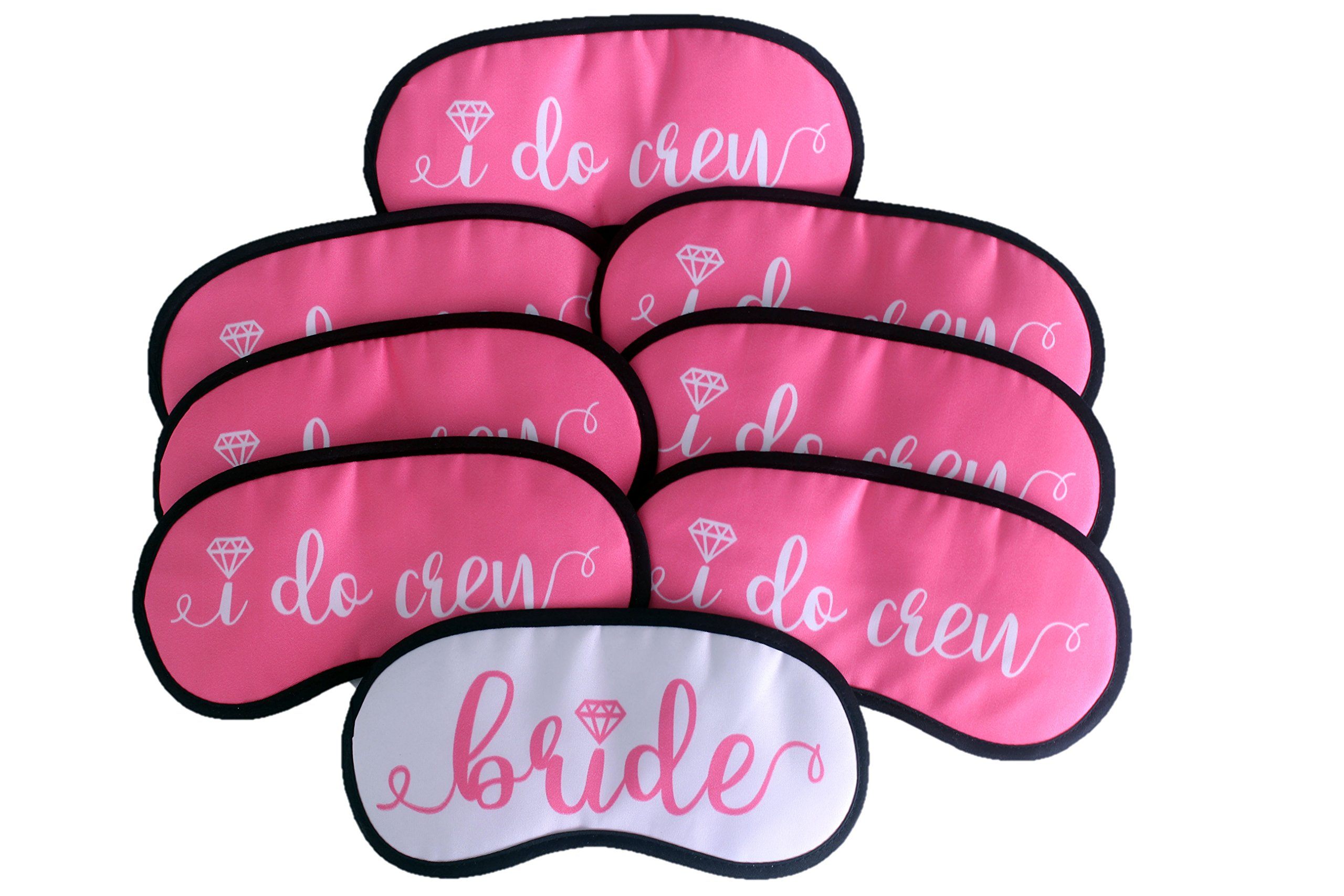 Bride and Bridesmaids Sleep Mask Gift Set : Set of 8 - Bachelorette Party Supplies, Favors, Decorations, Bride Tribe, Bachelorette Party Gifts, Bachelorette Party Accessories, Bride to be Party Pack by Thee Glamour Bride