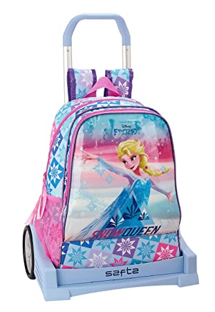 "Frozen ""Ice Magic"" Oficial Mochila Espalda Ergonómica Con Carro Safta Evolution"