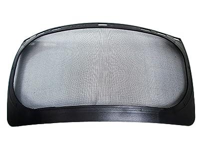 Malla de acero visera para casco de seguridad casco de ...