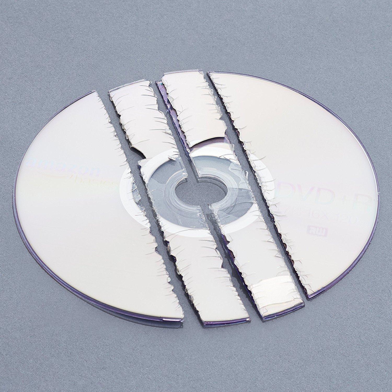 AmazonBasics 8-Sheet Strip-Cut Paper, CD, and Credit Card Shredder