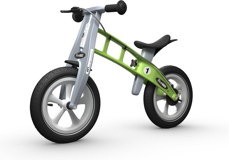 FirstBIKE - Bicicleta de Equilibrio con Freno, Modelo Racing, Color Verde (L2009): Amazon.es: Juguetes y juegos