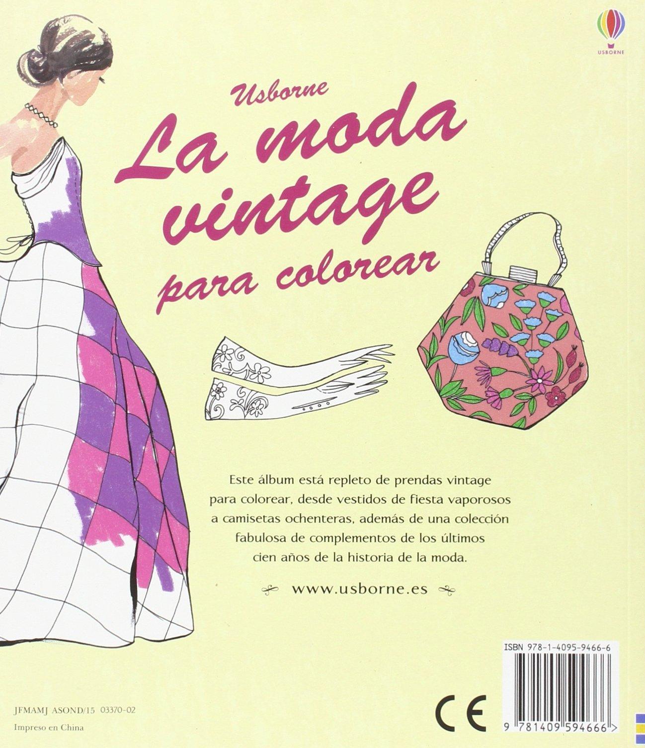 La moda vintage para colorear: Amazon.es: Ruth Brocklehurst: Libros