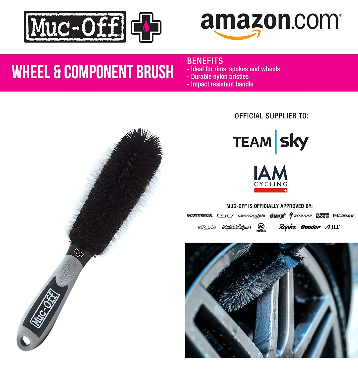 Muc-Off 371 Wheel and Component Brush