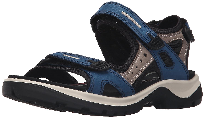 ECCO Women's Yucatan Sandal B0163G9MMQ 42 EU/11-11.5 M US|Poseidon/Warm Grey/Black