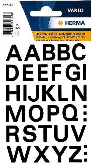Herma Buchstaben 10 mm A-Z wetterfest Folie schwarz 1 Bl