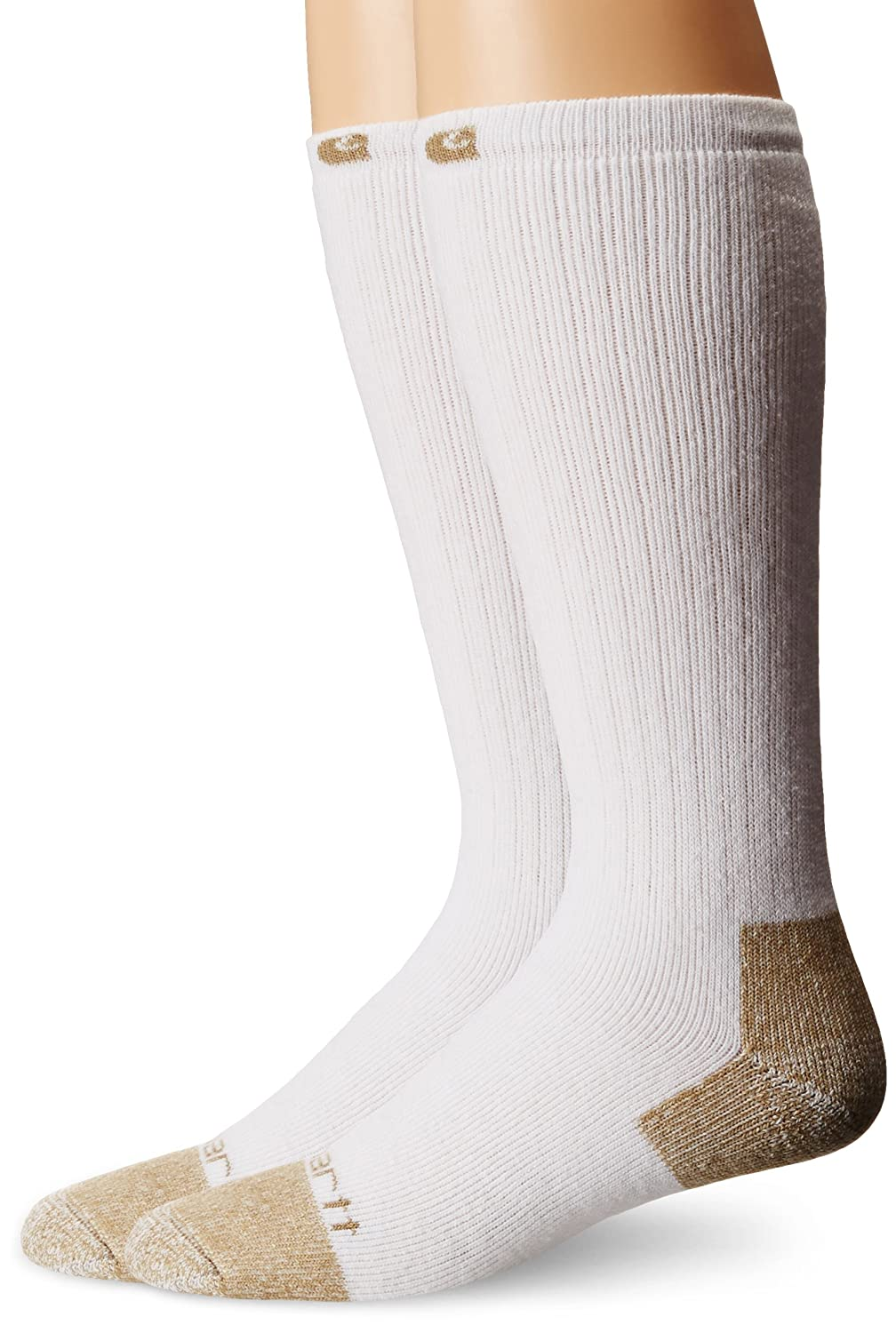 Carhartt Men's Full Cushion Steel-Toe Cotton Work Boot Sock 2-Pack Carhartt Socks A555-2