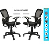 SAVYA HOME ™ Delta Office Chair, Study Chair, mesh Chair Combo Pack(2 Chairs)