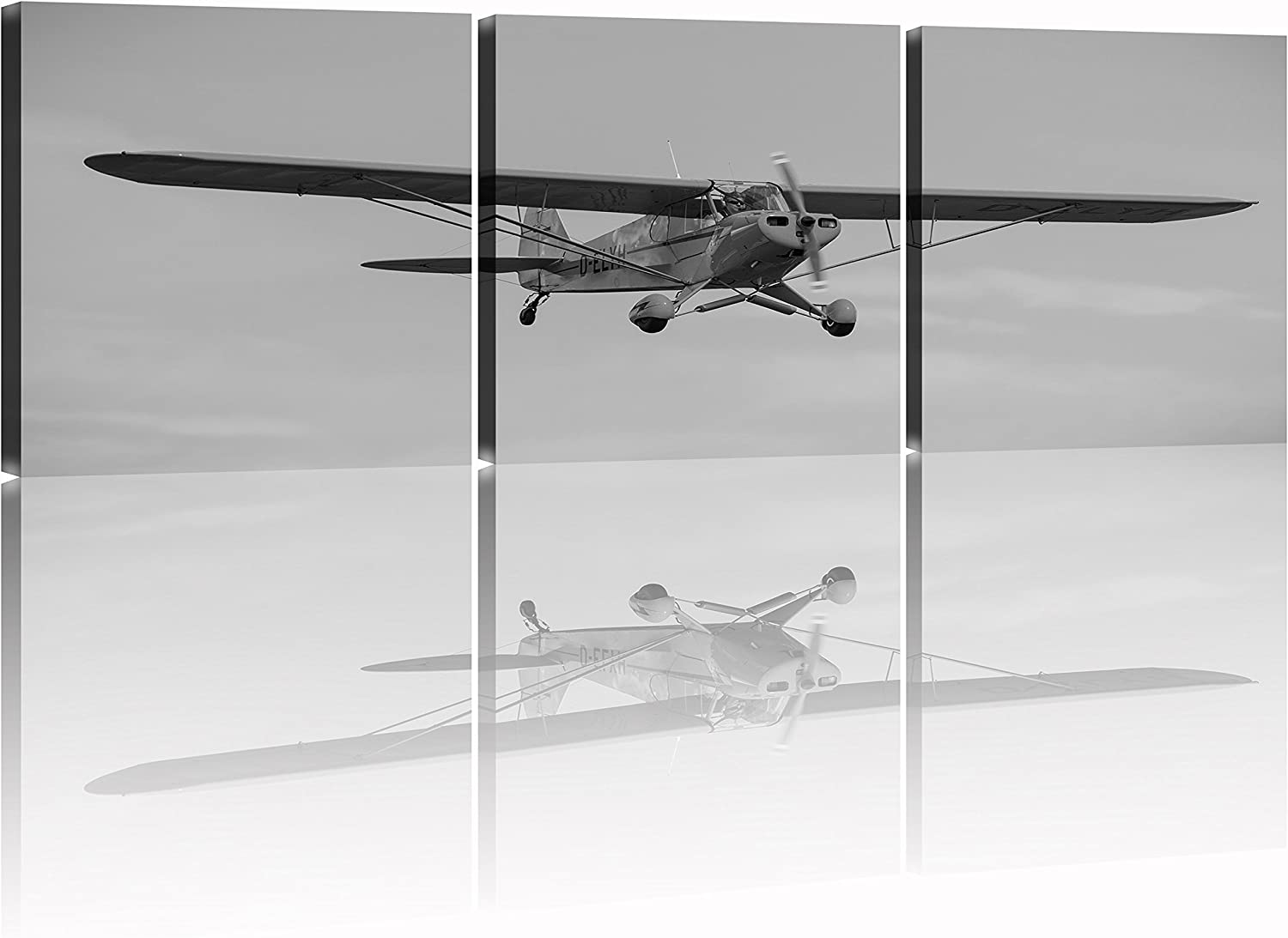 NAN Wind Black and White Vintage Airplane Artwork Giclee Canvas Prints Airplane Pictures Paintings on Canvas Wall Art Ready to Hang for Living Room Bedroom Home Decorations
