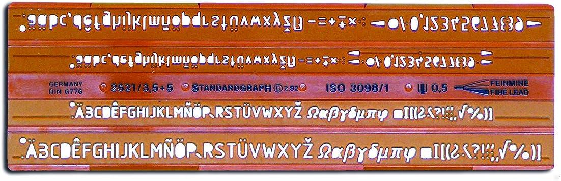 1 Schriftschablone rOtring 1,8 mm gerade Schrift