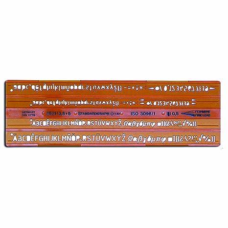 70d0004a6c Standard grafico 2521 isonorm Normografo: Amazon.it: Cancelleria e ...