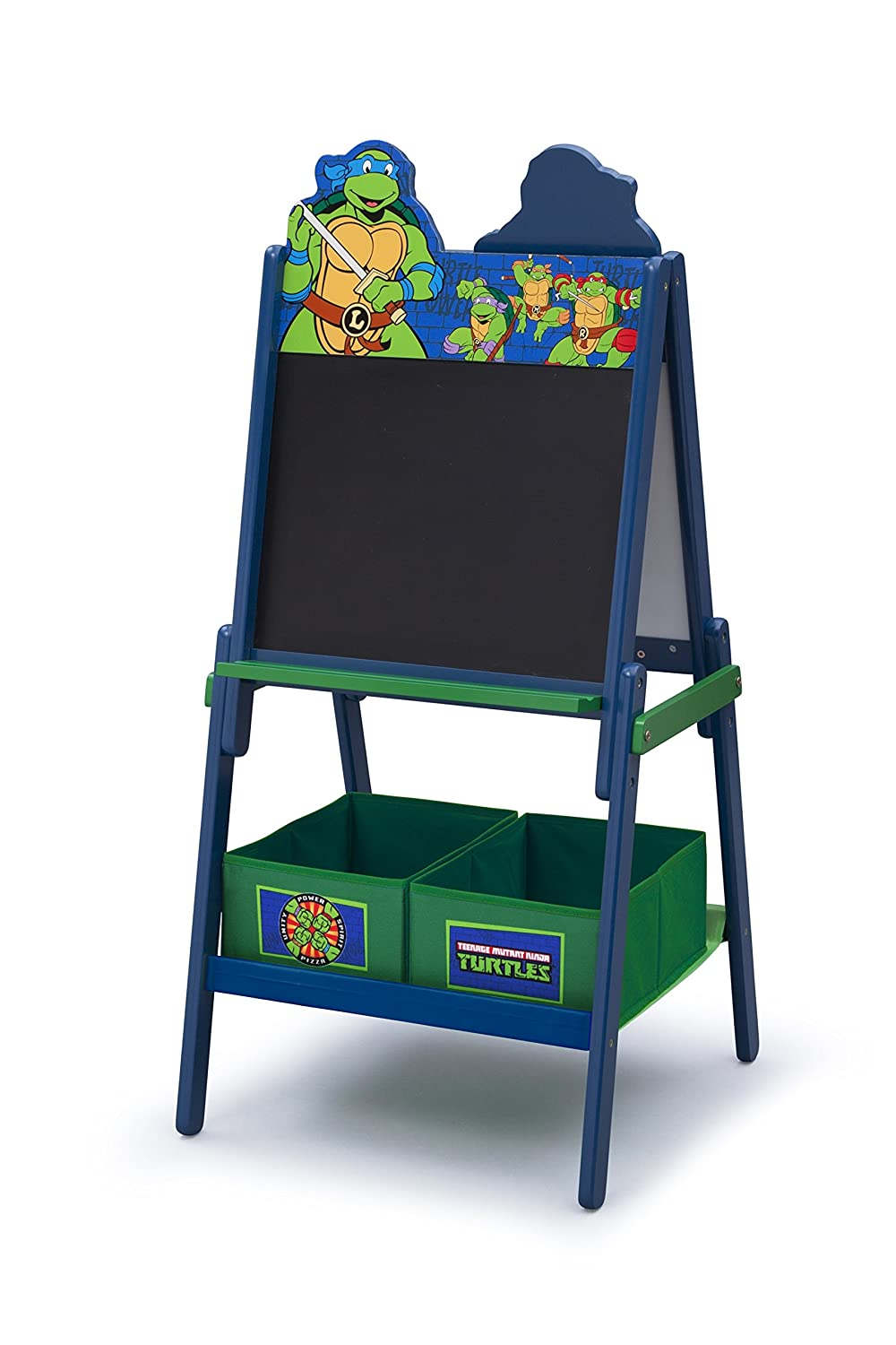 Delta Children Wooden Double Sided Activity Easel with Storage, Nickelodeon Teenage Mutant Ninja Turtles