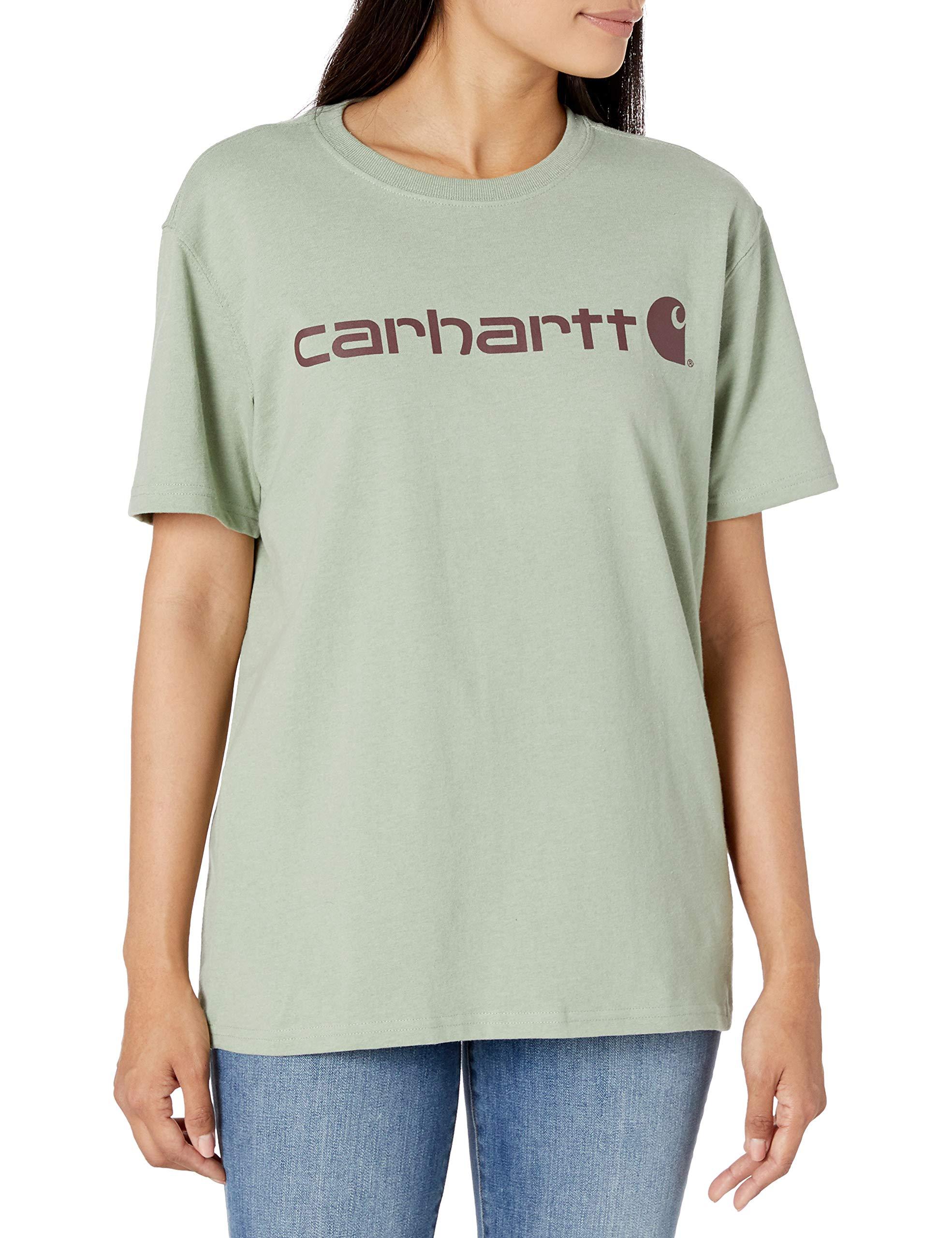 Carhartt Women's Regular Wk195 Workwear Logo Short T-Shirt