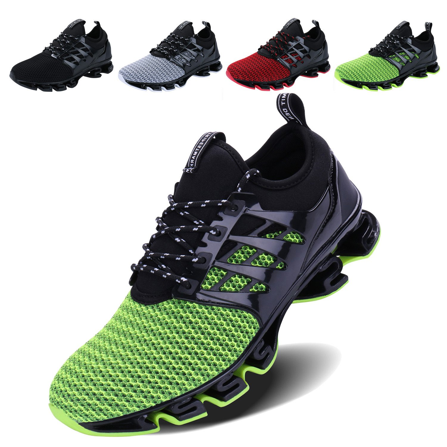 2_green 9 US VOEN Mens Casual Walking shoes Blade Outdoor Sport Sneakers Mesh Breathable Fashion shoes