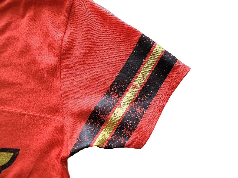 Wonder Woman Juniors Foil Logo Tee Shirt Red