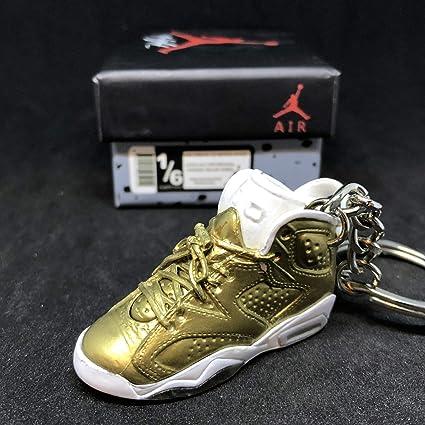 c534e65d6e1438 Amazon.com  Air Jordan VI 6 Retro Pinnacle Metallic Gold OG Sneakers Shoes  3D Keychain 1 6 Figure + Shoe Box  Everything Else