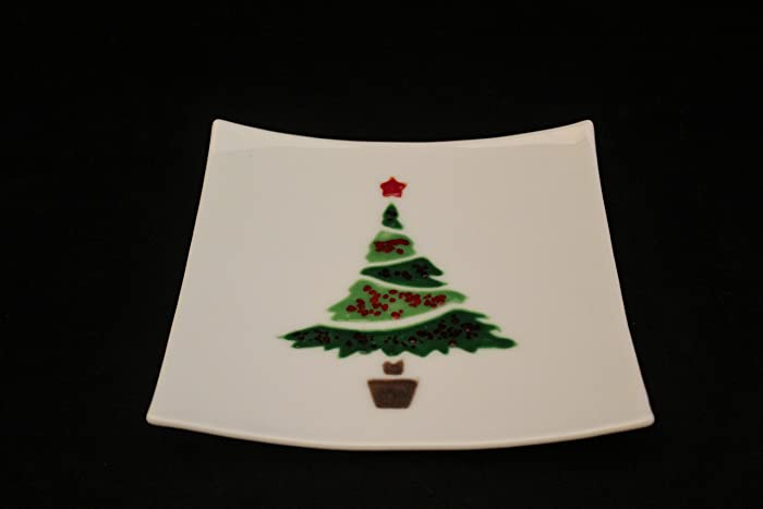 Christmas Platter Plates.Amazon Com Christmas Tree Plate Holiday Serving Platter