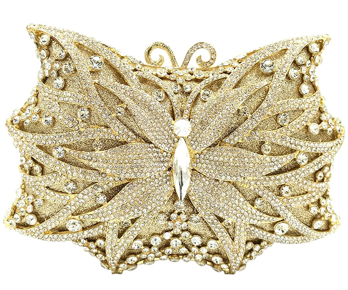 Elegant Evening Bags For Womens Clutches Purse Chain Wallet Handbags Crystal Party Butterfly
